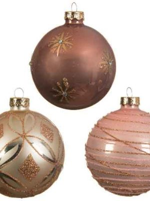 Kerstballen roze