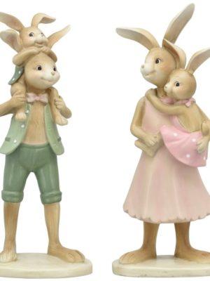 konijntjes roze/groen
