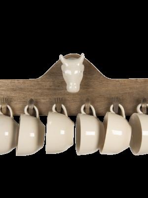 Kapstok met kopjes (48x9x17cm) 64,90€