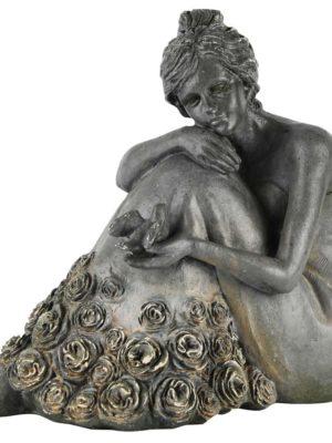 Dame bloemenjurk (25x19x23cm)